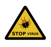 Stop Virus, Sign Icon Vector, Isolated On White Background