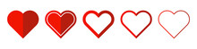 Heart Vector Icons. Set Of Lov...