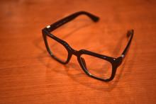 Glasses With Black Horn-rimmed...
