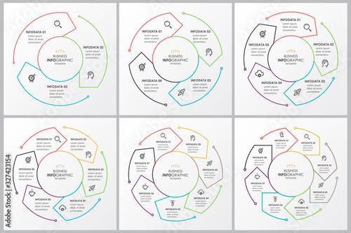 Cuadros en Lienzo Vector infographic template