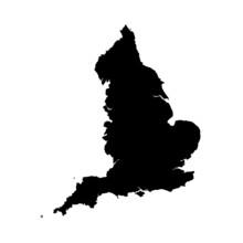 England Vector Map Shape