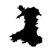 Wales Vector Map Shape