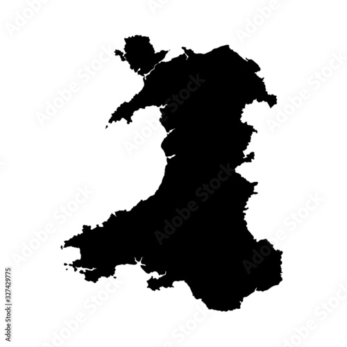 Photo Wales vector map shape