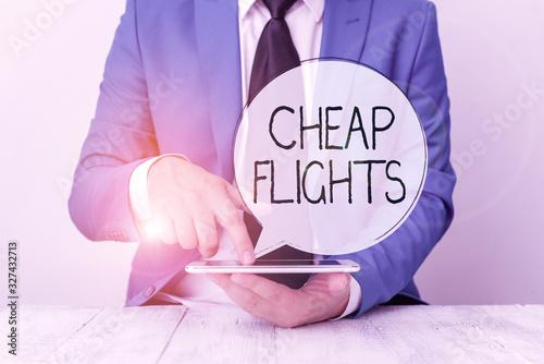 Handwriting text Cheap Flights Canvas Print