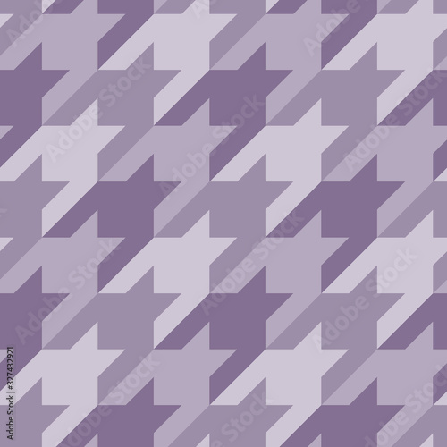 Seamless surface pattern with houndstooth ornament Canvas Print