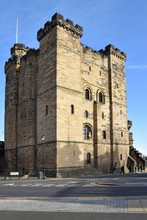 Norman Aged Castle Keep In Newcastle Upon Tyne, England