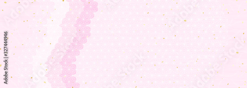 Fototapeta 桜色の和風模様