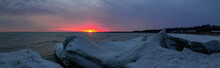 Panorama Of Sunset At Port Sta...
