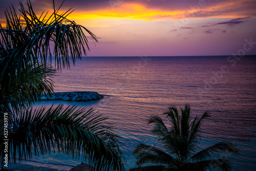 Tropical Jamaican Sunset