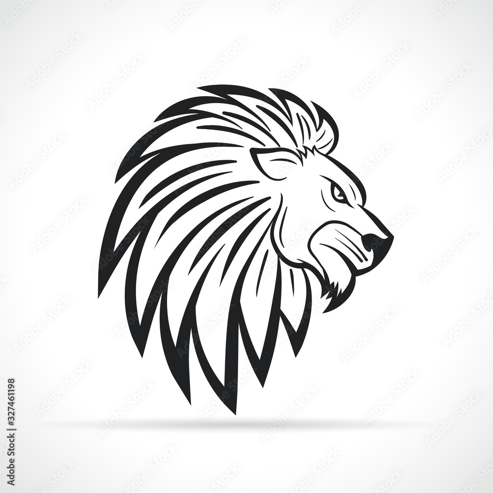 Vector lion head design symbol