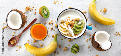 Obraz na plátne Probiotic food concept