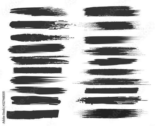 Obraz Smudge black brushstrokes - fototapety do salonu