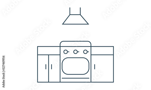 Kitchen icon flat style graphical symbol. Fototapeta