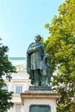 Vienna, Austria. Monument Josef Ressel. Czech Austrian Forester And Inventor Who Designed One Of The First Working Ship's Propeller. Sculptor Anton Dominik Ritter Von Fernkorn (1830 - 1878)