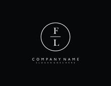 FL Initial Letter Elegant Hand...