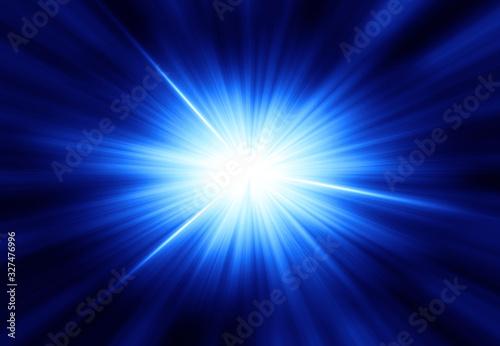 Obraz 輝く放射光と放射線のアブストラクトのグラフィックス - fototapety do salonu