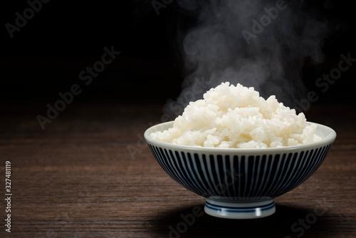 Photo 炊きたてのご飯 コピースペース