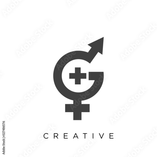 Fototapeta gender logo design