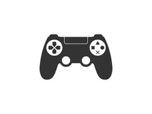 Controller, Joystick Icon. Vector Illustration, Flat Design.
