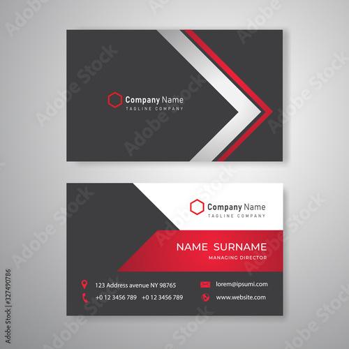 Black Technology business card clean design template