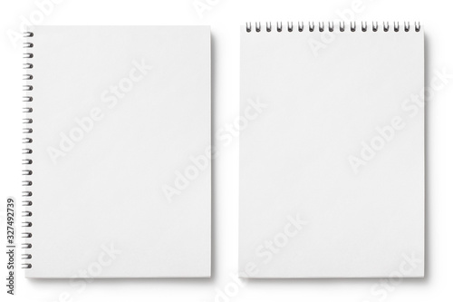 Set of blank notepads, isolated on white background