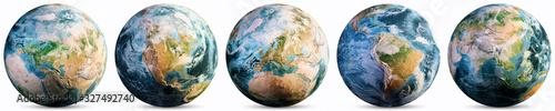 Planet Earth - Europe, America, Asia - 327492740