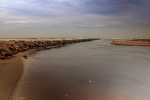 An Undulating Sea At An Old St...