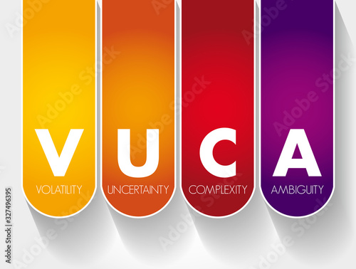Photo VUCA - Volatility, Uncertainty, Complexity, Ambiguity acronym, business concept