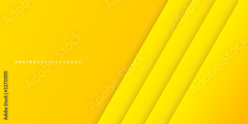 Fototapety, obrazy: Abstract colorful yellow color of paper layer