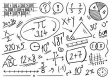 Hand Drawn Math Symbols. Mathe...