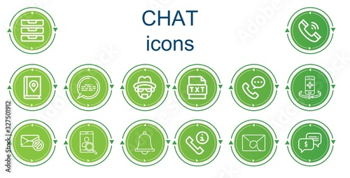 фотография Editable 14 chat icons for web and mobile