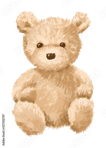 Papel de parede Brown Teddy bear on white background - isolated