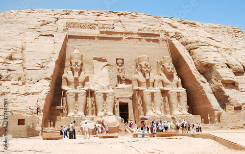 The famous temple of Abu Simbel. Egypt Canvas-taulu