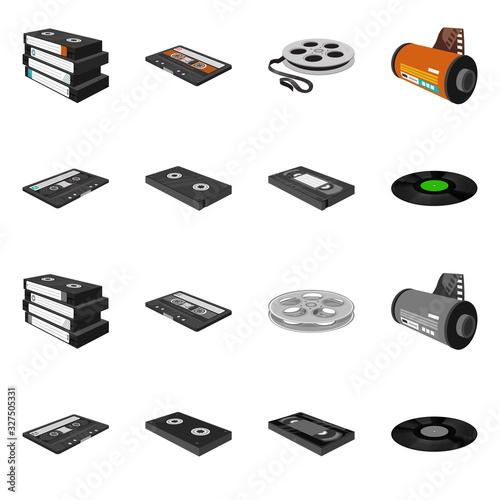 Fotografering Vector design of equipment and device symbol