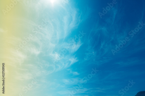 Fototapeta Sky with blurred clouds on an abstract background obraz