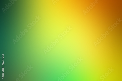 Fototapeta Green and yellow gradient abstract background obraz