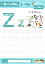 Letter Z Uppercase And Lowerca...
