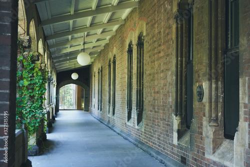 メルボルン レンガ造りの建物 風景 Canvas Print