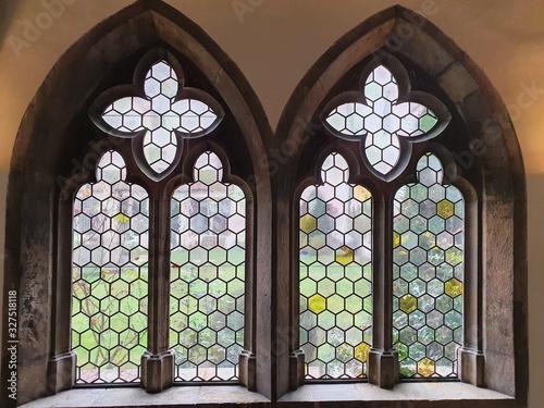 Leinwand Poster Fenster Mittelalter