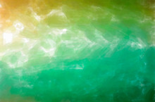 Abstract Illustration Of Green, Yellow Watercolor With Low Coverage Background