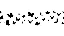Flying Butterflies Silhouettes...