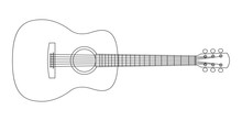 Acoustic Guitar Outline Silhou...