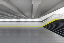 Modern Subway Station With Bla...