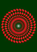 Damier Circulaire En 3D Rouge ...