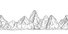 Mountain Range. Outline Nature...