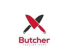 Butcher Logo Icon Design Vector