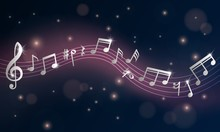 Music Notes. Musical Poster, S...