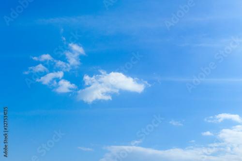淡い青空と白い雲 Canvas Print