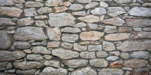 Beautiful Rustic Background Old Stone Wall Several Shades Of Gray