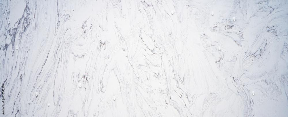 Fototapeta noble white gray marble granite stone texture background banner panorama